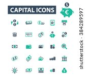 capital icons  | Shutterstock .eps vector #384289597