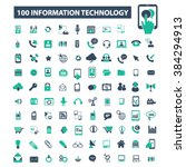 information technology icons  | Shutterstock .eps vector #384294913