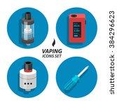 flat icon vaping atomizer | Shutterstock . vector #384296623