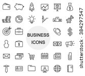business icons thin line set | Shutterstock .eps vector #384297547
