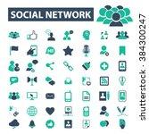 social network icons  | Shutterstock .eps vector #384300247