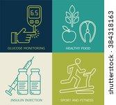 diabetes vector background. ...   Shutterstock .eps vector #384318163
