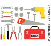 do it yourself tools vector | Shutterstock .eps vector #384325177