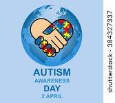 autism awareness day design | Shutterstock .eps vector #384327337