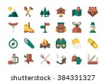 camping equipment icons  vector ... | Shutterstock .eps vector #384331327
