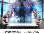 business man using modern... | Shutterstock . vector #384339937