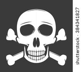 skull with crossbone vector...