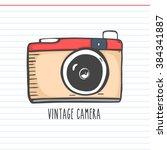 vintage camera vector... | Shutterstock .eps vector #384341887