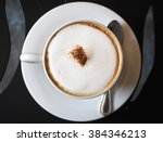 top view of coffee cup | Shutterstock . vector #384346213