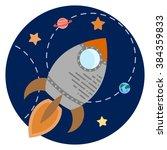 space theme   vector... | Shutterstock .eps vector #384359833