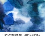 abstract watercolor handmade... | Shutterstock . vector #384365467