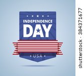 independence day badge. vector... | Shutterstock .eps vector #384371677