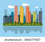 city icon design    Shutterstock .eps vector #384377407