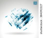 brush stroke and texture.... | Shutterstock .eps vector #384392227
