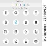 smarthone specs  vector icons... | Shutterstock .eps vector #384409807