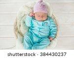 adorable cute baby girl... | Shutterstock . vector #384430237