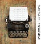 vintage typewriter | Shutterstock . vector #384436843