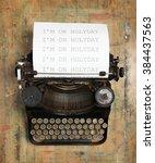 vintage typewriter | Shutterstock . vector #384437563