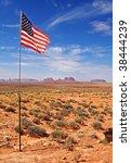 American Flag In The Desert