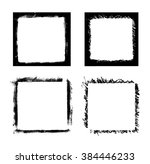 black paint distressed frame... | Shutterstock .eps vector #384446233