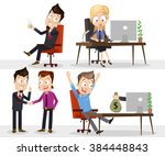 collection of business wins....   Shutterstock .eps vector #384448843