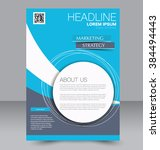 abstract flyer design... | Shutterstock .eps vector #384494443