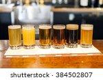 beer tasting   | Shutterstock . vector #384502807