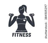 Logo Fitness Girl Silhouette...