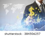 businessman with financial... | Shutterstock . vector #384506257