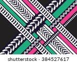 geometric ethnic oriental... | Shutterstock .eps vector #384527617