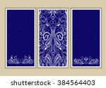 set of three background with...   Shutterstock .eps vector #384564403