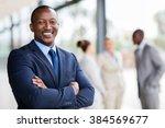 portrait of successful african... | Shutterstock . vector #384569677