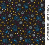 vector seamless pattern with... | Shutterstock .eps vector #384575647