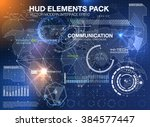 hud background outer space.... | Shutterstock .eps vector #384577447