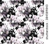 seamless pattern of flowers... | Shutterstock . vector #384589843