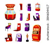 Game Machine Icons Set Of...