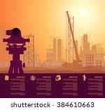 construction engineering | Shutterstock .eps vector #384610663
