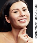 beautiful face of young... | Shutterstock . vector #384618733