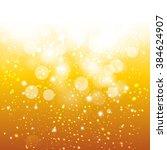 vector glittery gold background. | Shutterstock .eps vector #384624907
