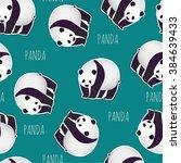 the pattern of pandas seamless...   Shutterstock .eps vector #384639433