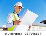 engineer builder at... | Shutterstock . vector #384646837