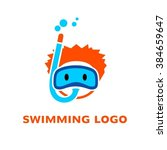 swimming sport logo. cartoon...
