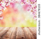 cherry blossoms with empty... | Shutterstock . vector #384678133
