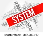 system word cloud  business... | Shutterstock .eps vector #384683647