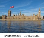 Small photo of Parliament with UK flag: June 23 referendum, Should the United Kingdom remain a member of the European Union or leave the European Union. The poll is aka Brexit meaning Britain exit