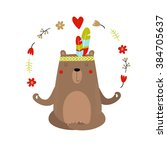 vector illustration of a bear ... | Shutterstock .eps vector #384705637