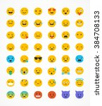 set of emoticons  emoji... | Shutterstock .eps vector #384708133