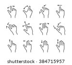 gesture collection for touch... | Shutterstock .eps vector #384715957
