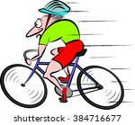 cyclist  cycling   vector bike  | Shutterstock .eps vector #384716677