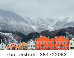 skyline of scandinavian style... | Shutterstock . vector #384722083